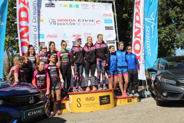 Campeonas femeninas del VIII Duatlón de Sevilla